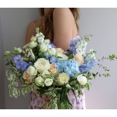 Bouquet with blue delphiniums