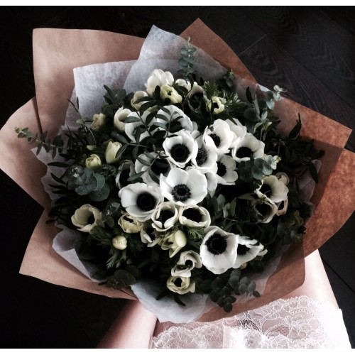 Bouquet with anemone flowers