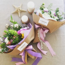 Bouquet with spicy herbs and wild flowers